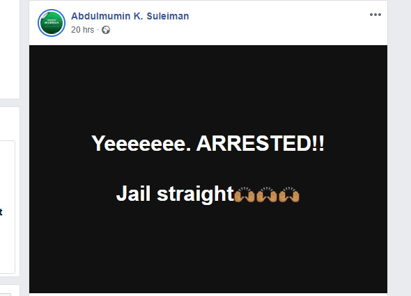 Police Arrest Lady