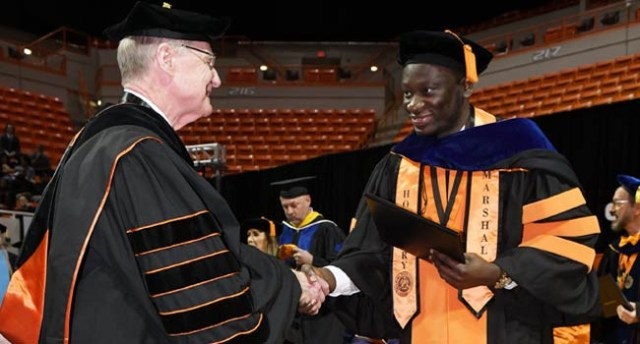 Nigerian man receives highest honour awarded to a graduating PhD student in Oklahoma