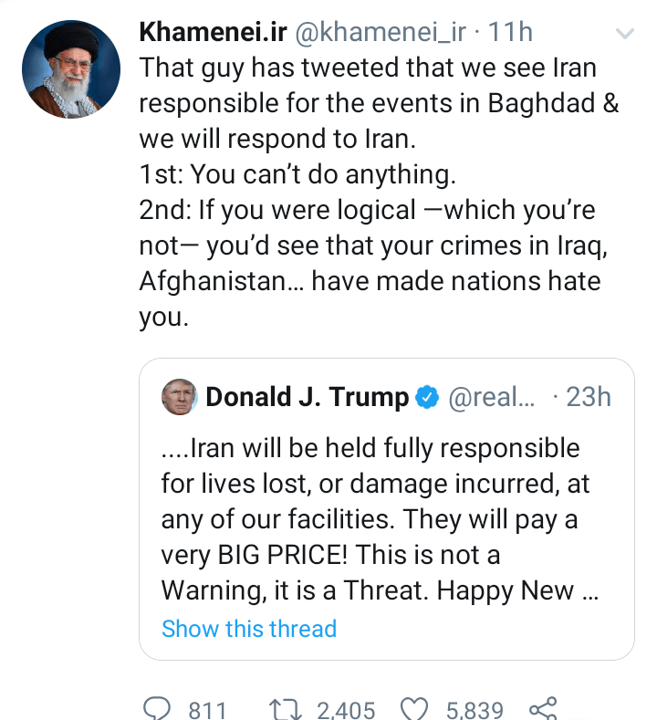 You cant do anything, we will unhesitatingly confront & strike you - Iran