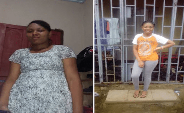 Abuja woman reveals how she went from 85kg to 54kg in few weeks without using coffee, slimming pills or waist trainer belt...