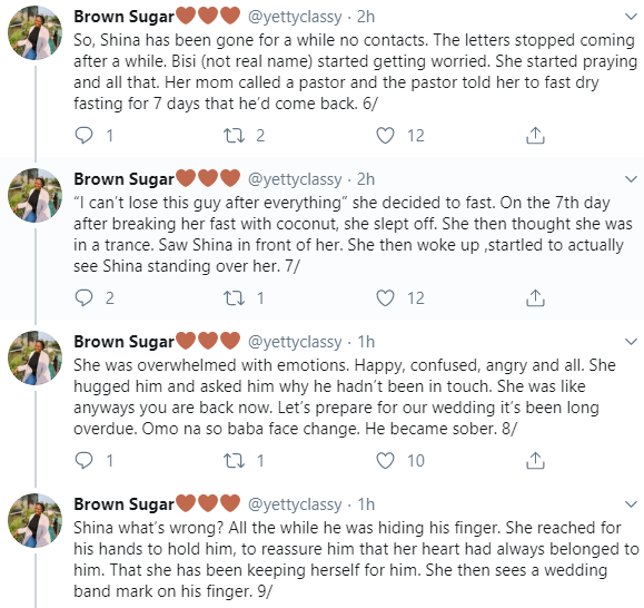 Twitter stories: Nigerian man who dumped his Nigerian girlfriend for a white lady while abroad, returns many years later to ask for her hand in marriage
