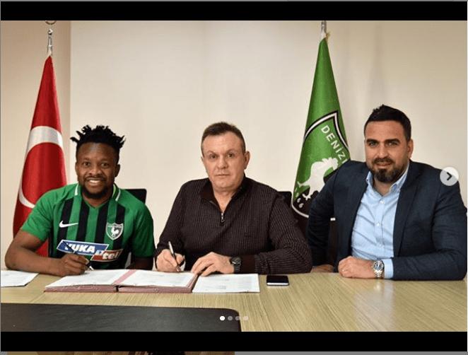 Super Eagles star Ogenyi Onazi signs for Turkish club?Denizlispor from Trabzonspor (Photos)
