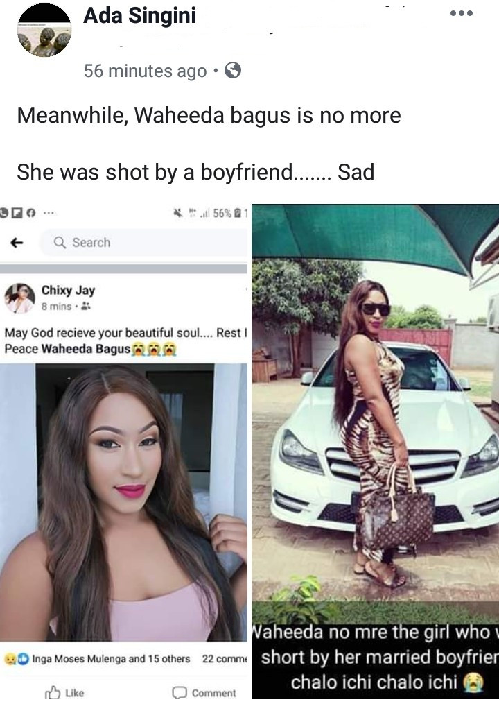 Beautiful Malawi woman, 25, dies 1 month after she was shot by her husband on suspicion of infidelity