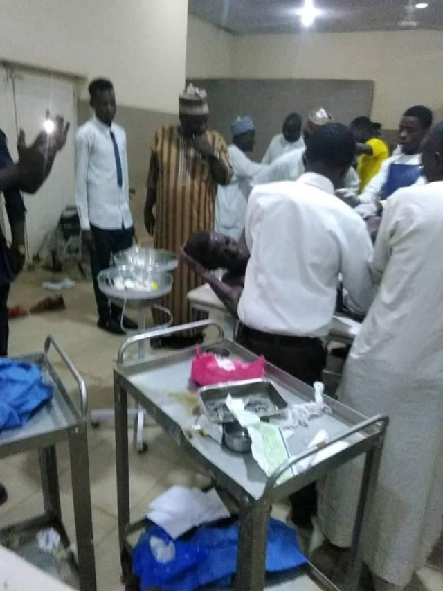 Scores injured as irate fans of Katsina United hold Kano Pillars players, officials hostage for hours after match ended in 1-1 draw (photos)