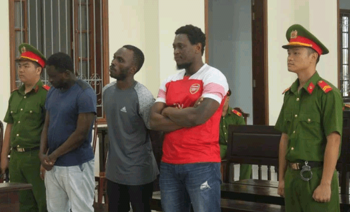 Vietnam court sentences Nigerian man, two Cameroonians to a total of 49 years in prison for conning Vietnamese women out of $65,000