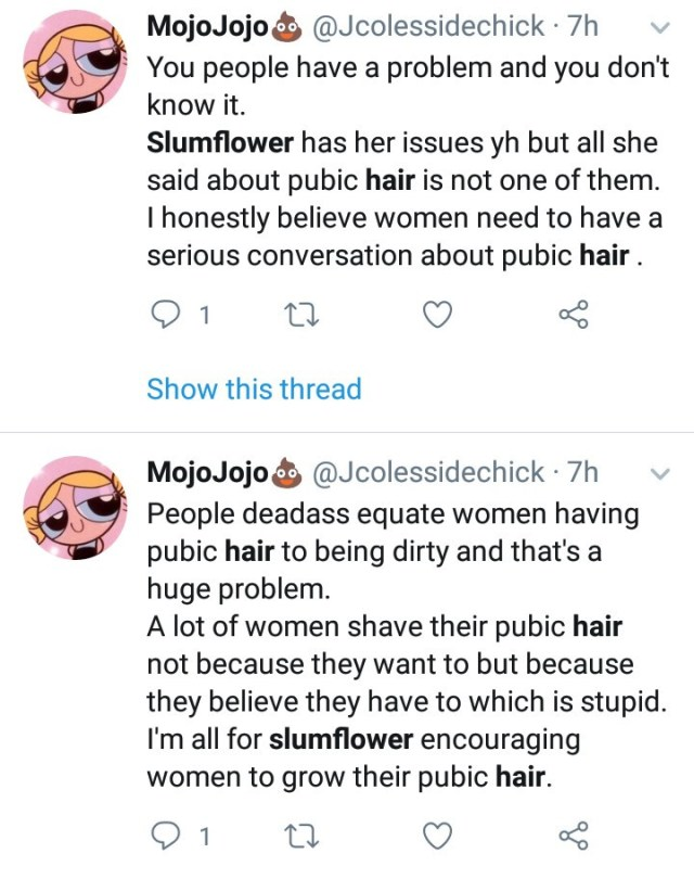 """Slumflower starts debate after sharing photos of her unshaved private part in """"Bring Back the Bush"""" campaign"""