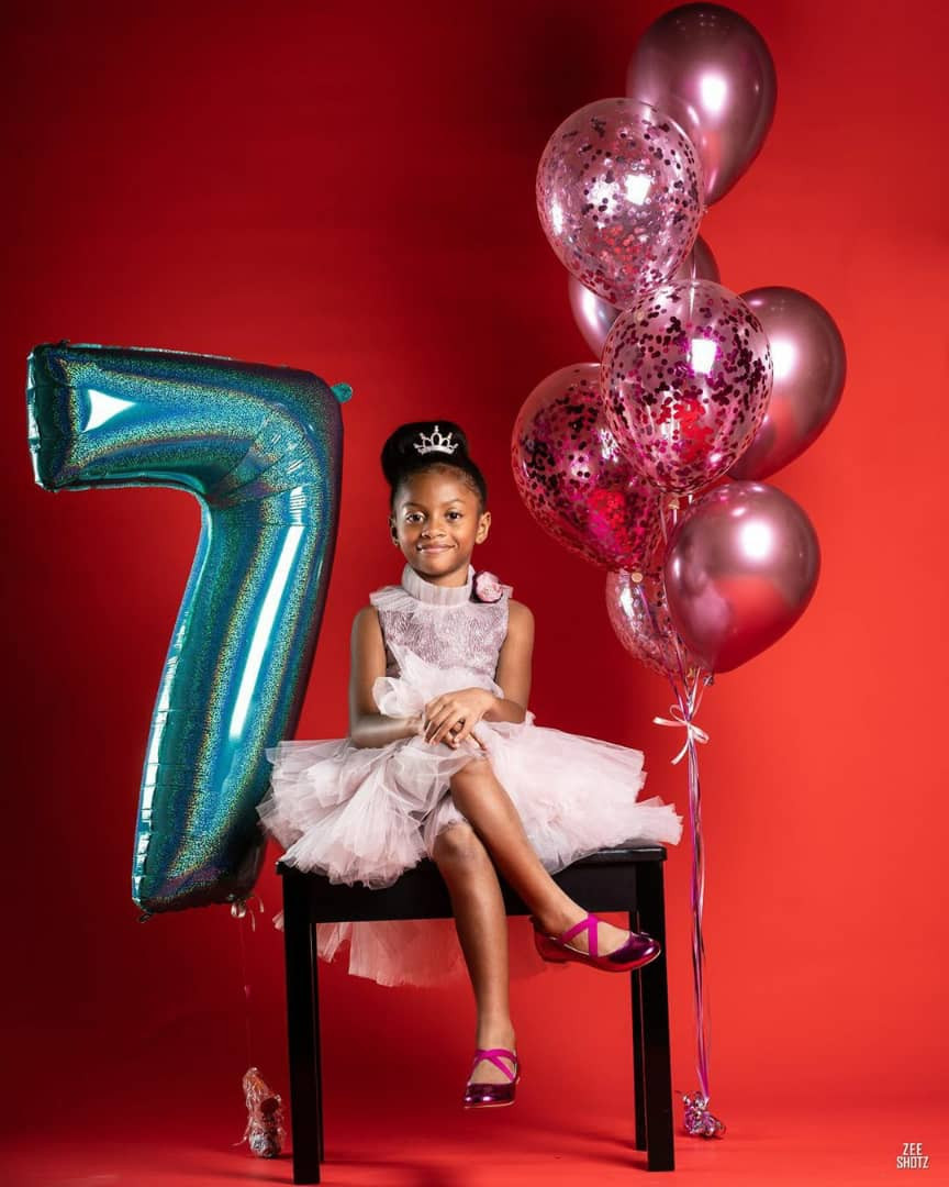 Peter and Lola Okoye share lovely new photos of their daughter, Aliona, as she turns 7