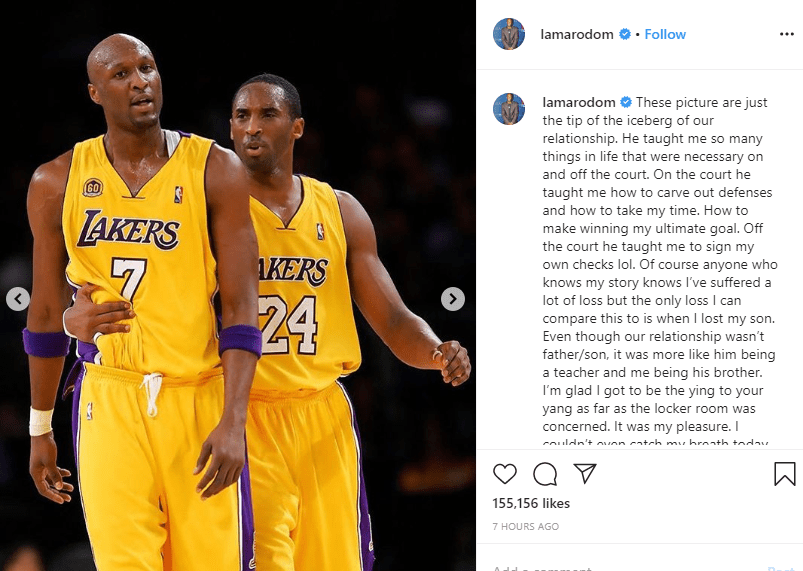 If God would have come to me and said he would take me and spare Kobe, I would have rather that happened - Lamar Odom pens down emotional tribute to late NBA legend