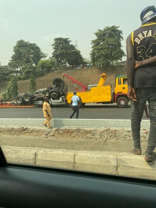 Container-laden truck kills woman in Lagos