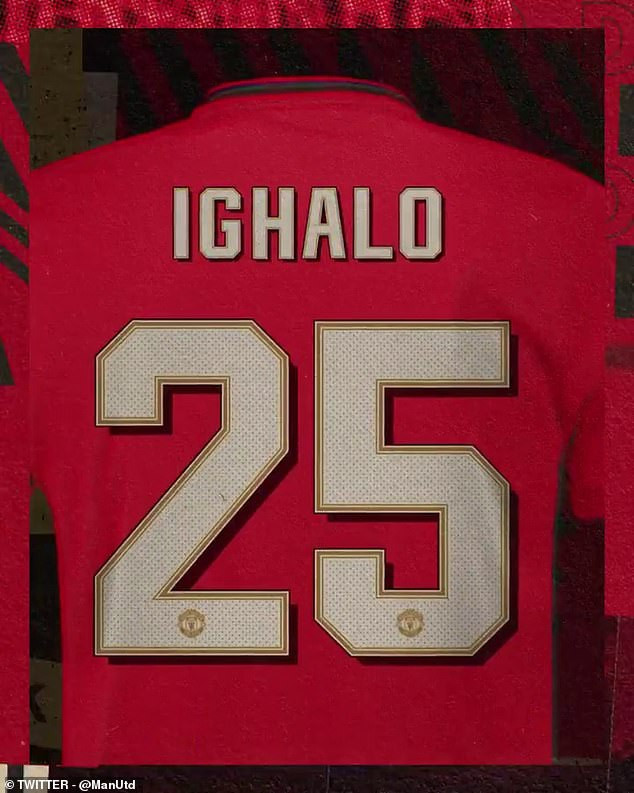 Odion Ighalo to wear No 25 for Manchester United as the Nigerian striker prepares for possible debut against Chelsea