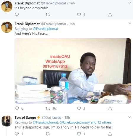 Outrage as woman releases voice note that appears to implicate an OAU lecturer who allegedly abused her sexually