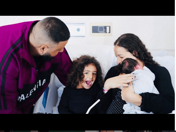 DJ Khaled shares first family photo after the birth of his second child