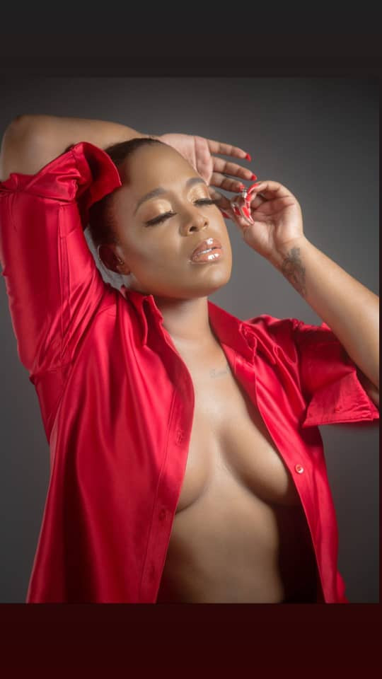 OAP, Moet Abebe, poses braless in new photos