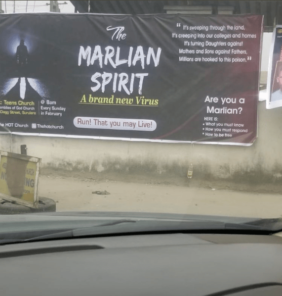 "Church declares one month of deliverance service to cast out ""The Marlian Spirit"" which they referred to as a ""brand new virus"""