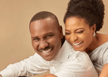 ''Thank you for being my peace'' - Ibidun Ighodalo, and her hubby, Ituah, celebrate 13th wedding anniversary