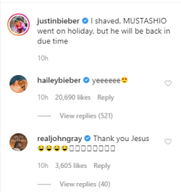 Justin Bieber finally shaves off his mustache after fans begged him, his wife Hailey Baldwin happily reacts
