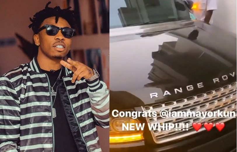 Singer Mayorkun acquires a new Range Rover (Video)