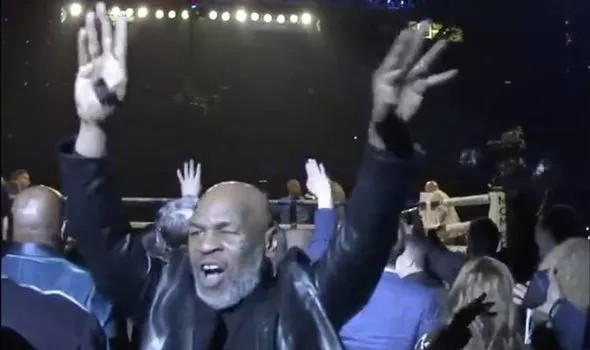 Watch Mike Tyson wildly celebrate Tyson Fury