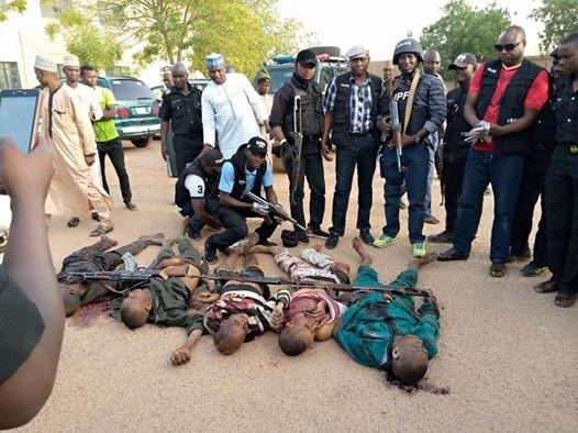 Police gun down 5 notorious criminals in Katsina (graphic photos)