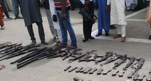 43 rifles recovered from Bauchi forest (photos)