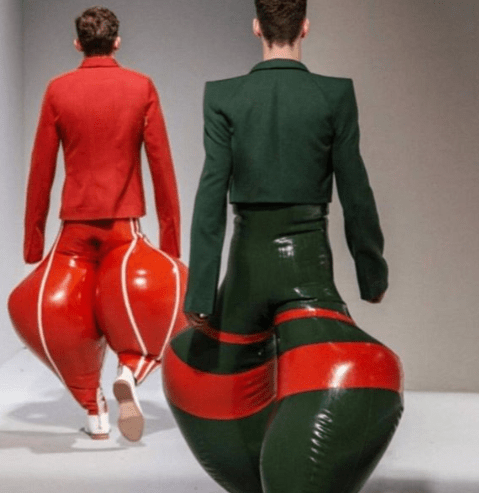 Check out these inflatable latex trousers that are causing a stir online(photos)