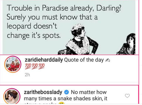 Zari Hassan reacts to baby daddy, Diamond Platnumz and Tanasha Donna?s alleged breakup