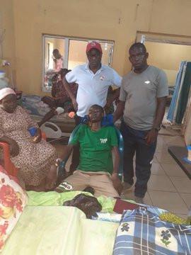 Super Eagles player John Ogu pays $1000 for treatment of Nigerian basketball player Debora Onah who