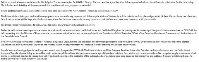 Canadian Prime Minister, Justin Trudeau