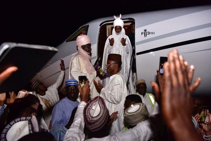 Dethroned Emir of Kano, Sanusi Lamido Sanusi finally arrives Lagos (video/photos)