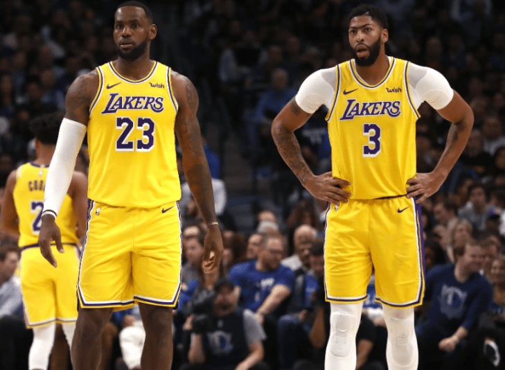 Lebron James and his Los Angeles Lakers