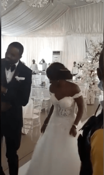 Nigerian couple dance into their wedding reception with no guest amid increased cases of coronavirus (video)
