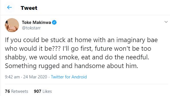 Toke Makinwa says she wouldn