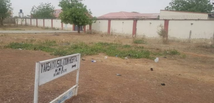 Photos of a dilapidated isolation centre in Kano State