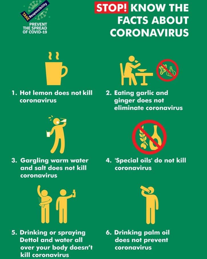 Consuming lemon, garlic, ginger, palm oil does not protect against Coronavirus- NCDC warns