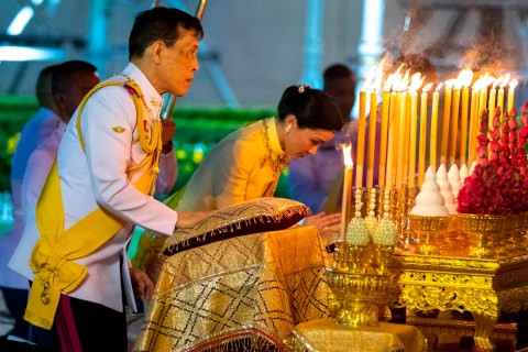 Coronavirus: King of Thailand who isolated himself with 20 girlfriends breaks lockdown to travel 12,000 miles to go to a party  (photos)