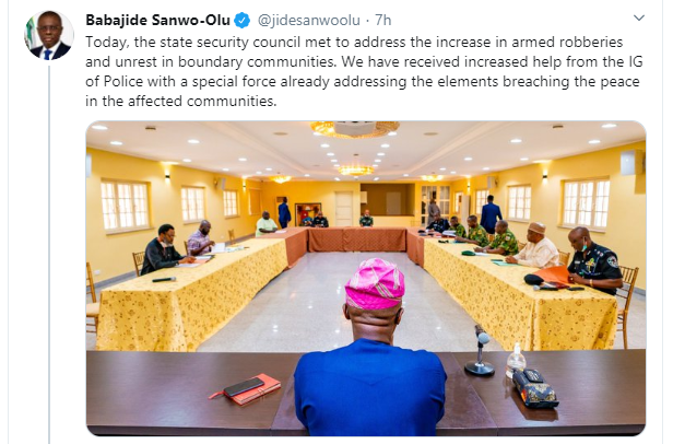Miscreants Attacking Lagosians Are Not Hungry People, But Opportunistic Criminals - Governor Sanwo-Olu