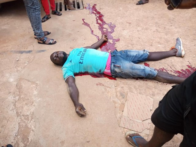 Young man allegedly shot dead by police officers in Nkpor (graphic photos/videos)