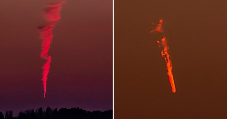 Mystery burning object flies over UK skies leaving trail of smoke that stayed for 20 minutes; experts claim it was just a flight contrail (photos)