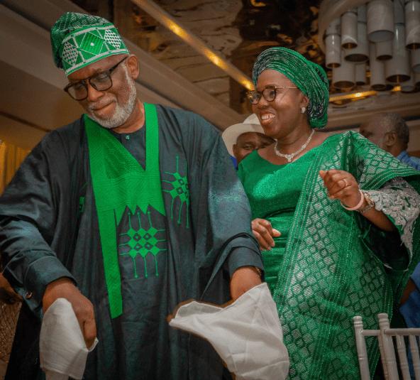 Ondo state governor, Rotimi Akeredolu and wife, Betty, celebrate 39th wedding anniversary