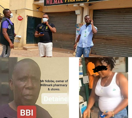 Owner of pharmacy where lady was overwhelmed, stripped naked and filmed for stealing milk in Delta has been arrested (photographs/video)