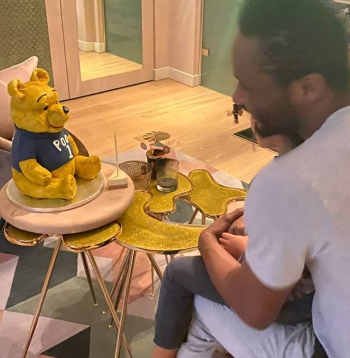 John Mikel Obi celebrates his 33rd birthday with his partner and twin daughters at their home (photos)