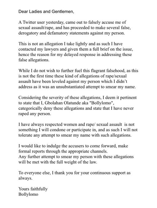 This Is Not The First Time A Rape Allegation Has Been Leveled Against Me; I Have Contacted My Lawyers - Actor Bollylomo Reacts To Rape Allegation