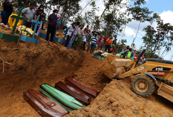 Harrowing footage shows mass graves being dug in Brazil as deaths surge due to Coronavirus (photos/videos)