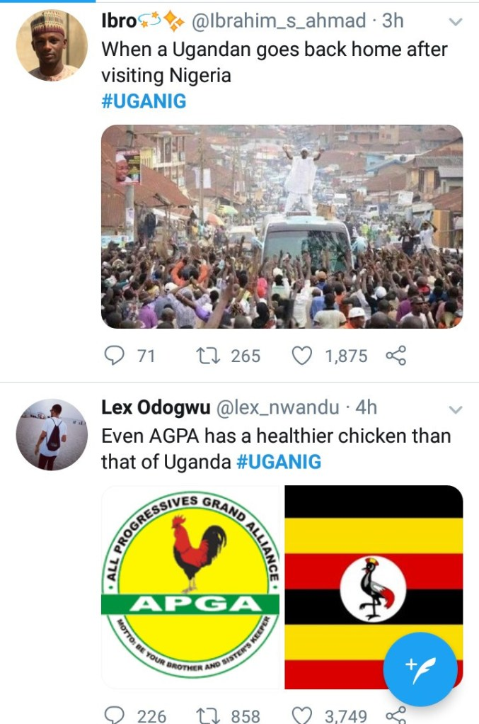 Nigerians and Ugandans drag each other after a Ugandan tweeted that