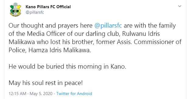 Ex-Assistant Police Commissioner, Hamza Malikawa dies in Kano