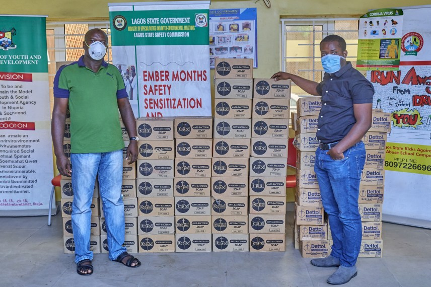 Dettol Donates Hygiene Products to Support Lagos State