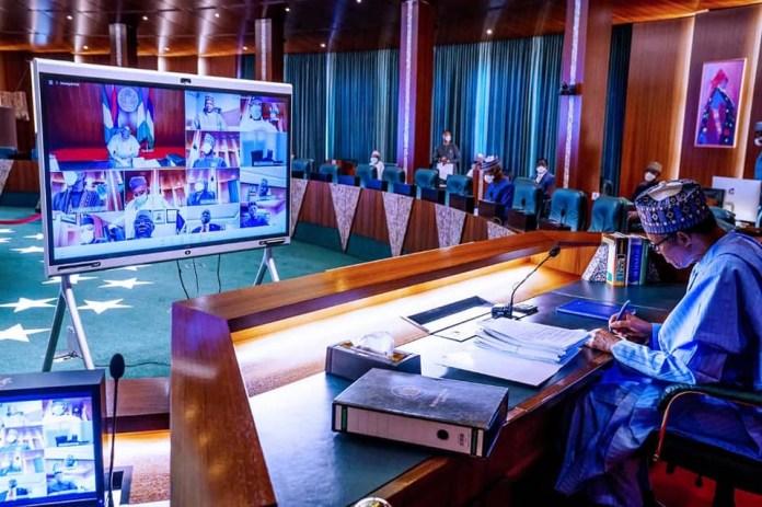 President Buhari presides over virtual Federal Executive Council meeting (photos)