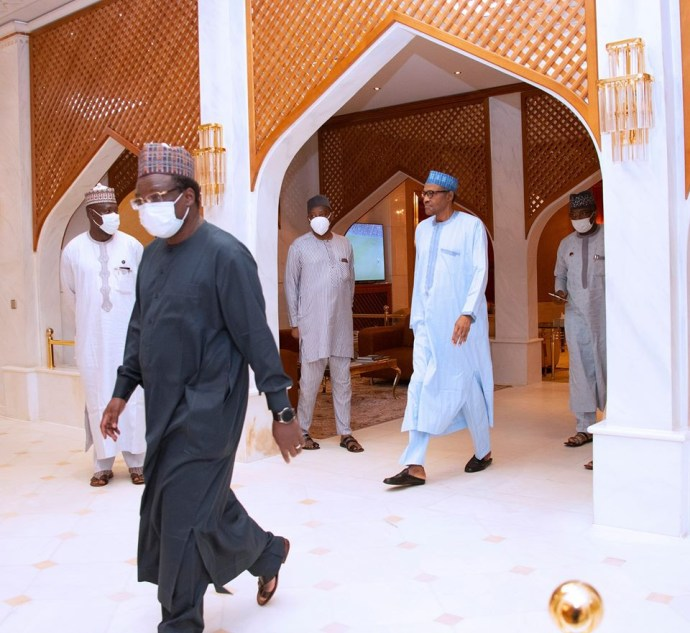 5ec17379518f4 President Buhari receives post lockdown report from COVID-19 task force team (photos)
