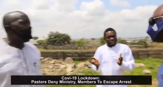 Abuja Pastors deny their churches and members after they were caught flouting the ban on religious gathering (Video)