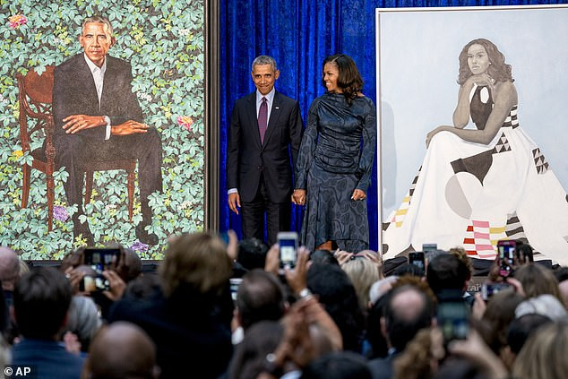 White House portraits of Barack and Michelle Obama will not be unveiled until Donald Trump leaves office
